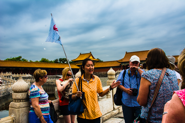 Local Guide Grace telling our group about the Forbidden City in Beijing.