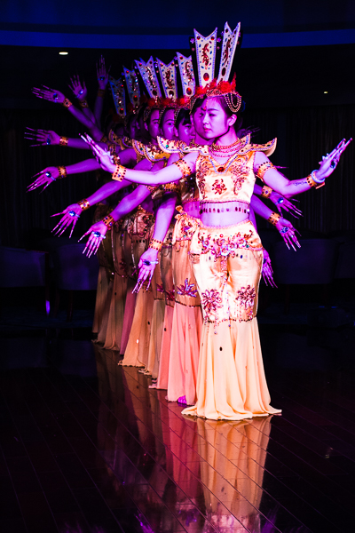 Scene from the crew's Chinese Dynasty Dance Show.