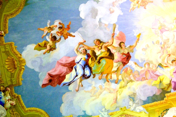 A ceiling fresco at Melk Abbey.