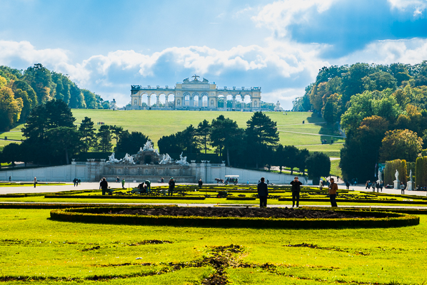 Grounds of the Schoenbrunn Palace.