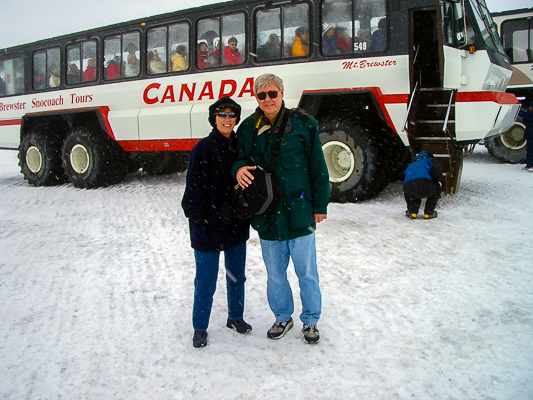 Rebecca & Sunny at the Columbia Icefield.