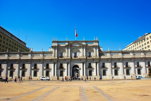 Presidential palace in Santiago, Chile.