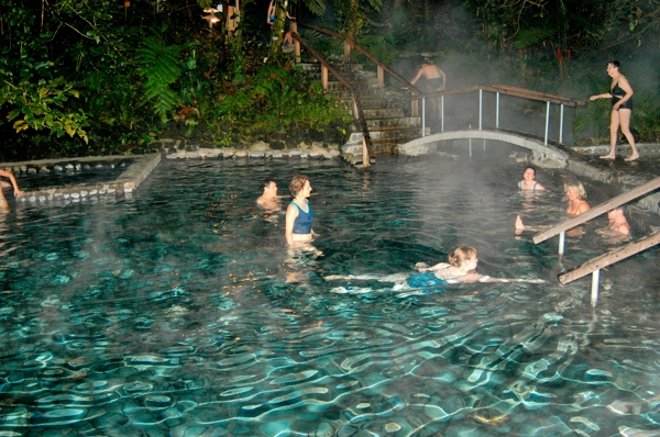 A hot spring with water heated by Arenal Volcano.