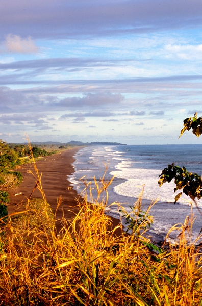 Waves near Jaco, a favorite place for surfers.