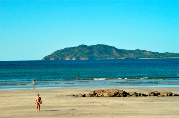Beach on the Pacific coast at Tamarindo.