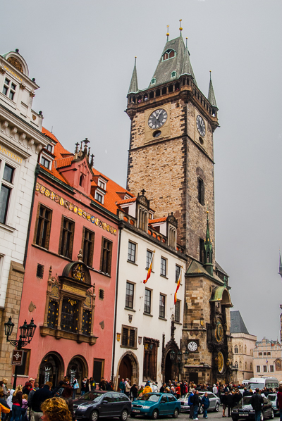 Astronomical clock tower in Prague.