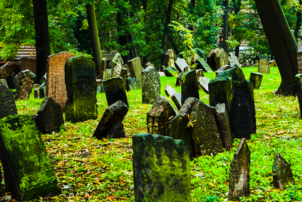Old Jewish Cemetry in Prague.