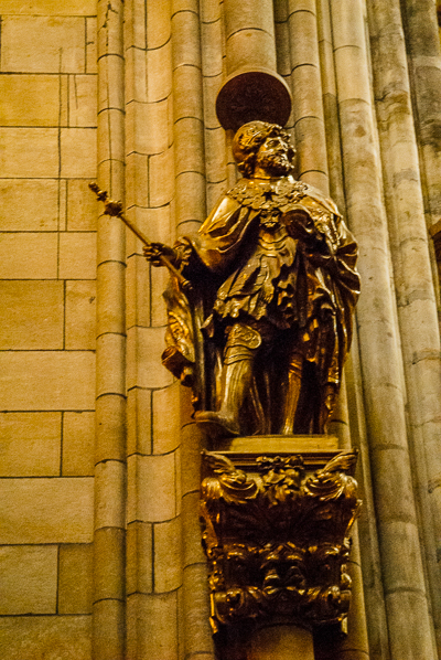 Statue in St. Vitus Cathedral in Prague.