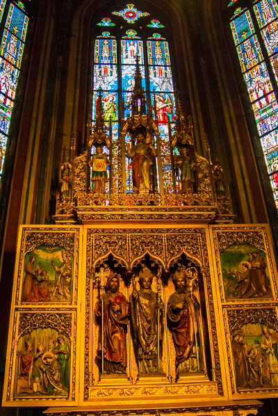 Chapel in St. Vitus Cathedral in Prague.