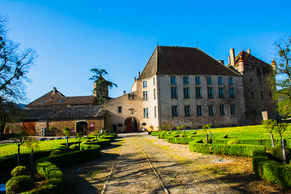 Chateau de Pierreclos winery in Burgundy, France.