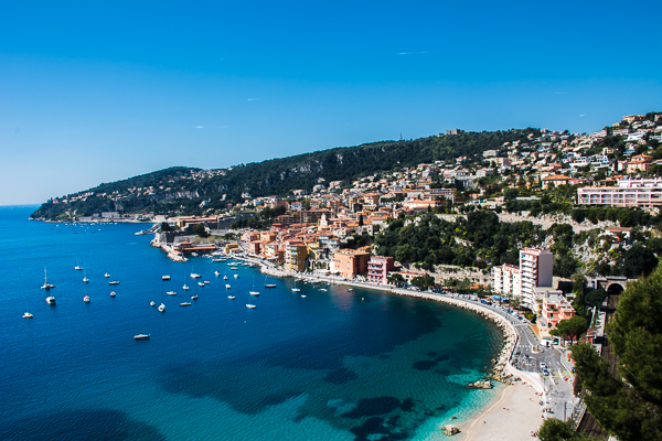 Nice, France on the Mediterranean Sea.