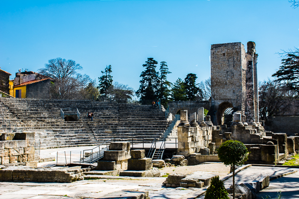 Roman theater in Arles, France.