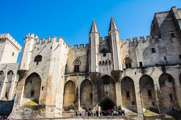 Papal Palace in Avignon, France.