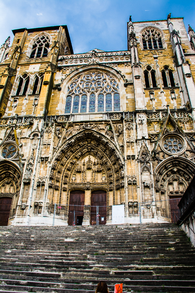 Facade of the Cathedral of St. Maurice in Vienne, France.