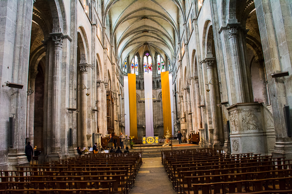 Nave of the Cathedral of St. Maurice in Vienne, France.