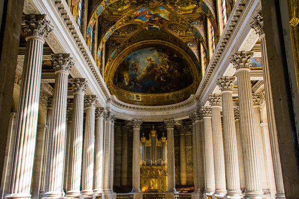 Royal Chapel in the Versailles Palace, France.