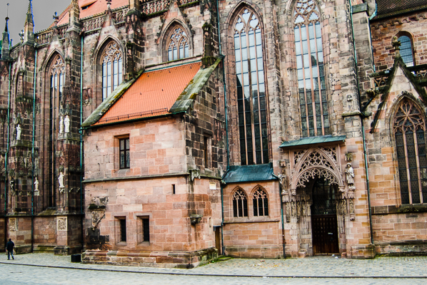 St. Sebaldus Church in Nuremberg. The two towers of this church are seen in the picture below.