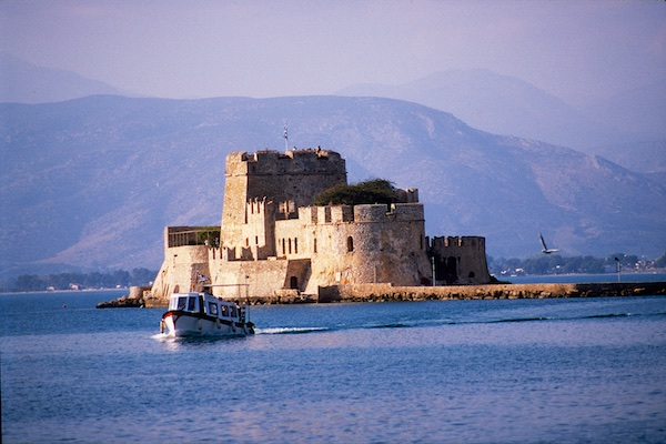 Fortress in harbor at Nauplion.