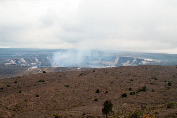 Crater at Hawaii Volcanoes National Park, Kilauea on the Big Island Hawaii.
