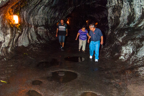 Lava tube at Hawaii Volcanoes National Park on the Big Island Hawaii.