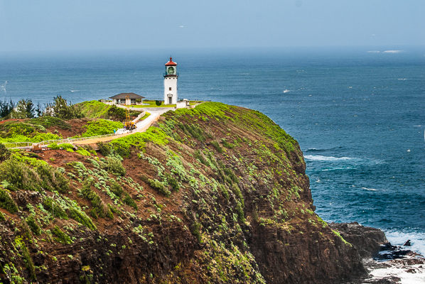 lighthouse at Kilauea Point in the National Wildlife Refuge in Kauai.
