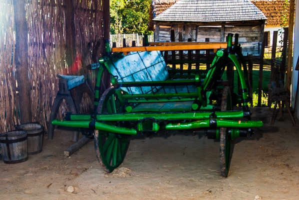 Wagon in Open-Air Museum.
