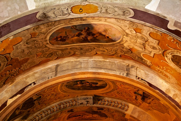Ceiling in Royal Palace in Palermo.
