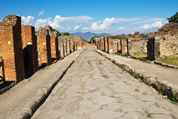 A street in Pompeii.