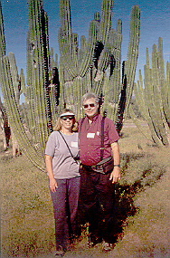 Rebecca & Sunny with cactus.