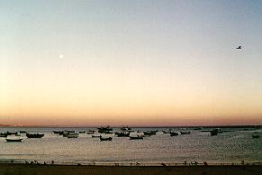 Dusk on the bay at Cascais, Portugal.