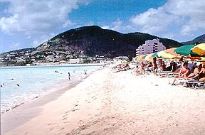 Philipsburg, St. Maarten beach.