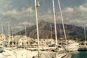 Yacht basin in Marbella, Spain.