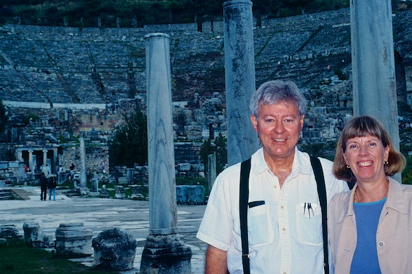 Sunny and Rebecca at Great Theater, Ephesus, Istanbul.