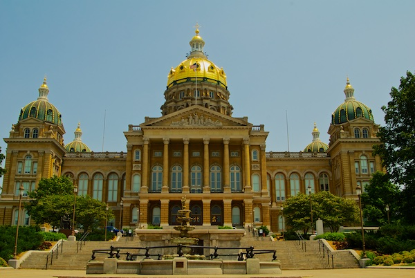 Iowa State Capital building in Des Moines, Iowa